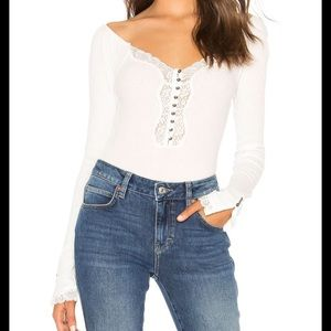 NEW NWT Free People To The West Fitted Top